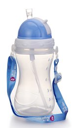 Wholesale BPA Free Chirldren PP oz ml Sports Drinking Cup With Straw And Rope