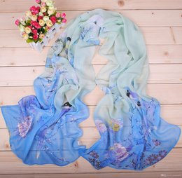 Wholesale woman Chiffon scarf printed scarves bird style new high quality piece c