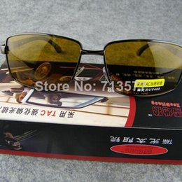 Wholesale Fashion men sun glasses drivers polarized night vision goggles cool male eyewear good anti uv glasses pc G032