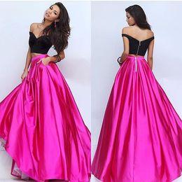 Wholesale Fucsia dos piezas vestidos de baile TRIAK EDIZ fuera del hombro formal vestidos de noche desgaste partido vestido de disfraces vestido de alfombra roja