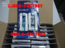 Wholesale AAAAA quality toothbrush heads FlexiSoft electric toothbrush heads EB17 with retail pack pack enough stock