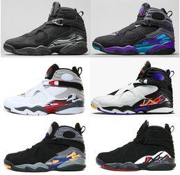 online shopping 2016 Air retro Man Basketball Shoes high Quality retro VIII AQUA Chrome Playoff Sneakers sport shoes athletics boots Size