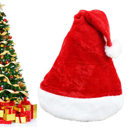 New Christmas Cosplay Hats Thick Ultra Soft Plush Santa Claus Hat Adult Ordinary Christmas Hats for Party Props Xmas Ornaments Gift FPS_00M