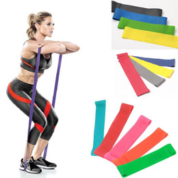 Discount home gym exercises Wholesale-50CM,4PCS lot 8-25lbs 0.4-1.2mm thick Loop resistance bands,High Tension Leg stretch band for Exercise Fitness Muscle Home Gym