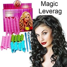 Stock DIY MAGIC LEVERAG Magic Hair Curler Magic Roller Cercle Coiffants Rouleaux Curlers Leverage perm 18pcs / set par DHL
