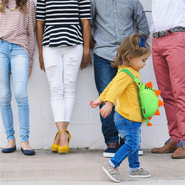 Wholesale Baby Mini cartoon Chest Bag Animal semi shaped Neoprene waistbag children D bag Shark Dinasour Monkey Cartoon Kindergarden Schoolbag