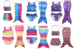 Wholesale Girls Kids Mermaid Swimsuits Set Mermaid Bikini Sets Girls Beach Mermaid Swimwear Swimming Costumes Colors good quality DHL C634