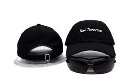 Wholesale Letter Cotton Summer Brand FUCK TOMORROW Snapback Baseball Cap Hip Hop Fitted Hat Men Women Sports Trend Bboy Bone Trucker Hat
