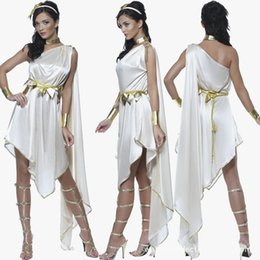 Wholesale The Ancient Greek Goddess Cosplay Costume New Greek Style Dress Carnival Christmas Party Halloween Costumes For Women Sexy Vestidos
