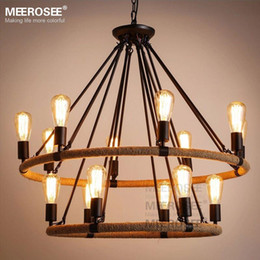 Antique Hanging Light Fixtures Online | Antique Hanging Light ...:American style pendant lighting fixture 2 Rings Vintage Antique suspension  lamp Edision E27 bulbs hanging light for Dining room,Lighting