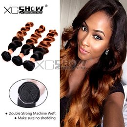 2017 ombre two tone color virgin hair 7A Peruvian Virgin Hair Extensions 3pcs Two Tone Hair Ombre Hair Weave Loose Wavy 2 Two Tone 1B 30 Remy Human Hair Weft discount ombre two tone color virgin hair