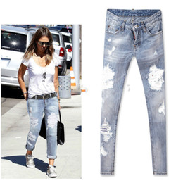 Cheap Destroyed Skinny Jeans For Women  Free Shipping Destroyed