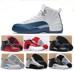 online shopping 2016 hot Jordans Men Basketball Shoes s Flu Game French Blue High Quality Air Retro XII sneakers Master XII Gym Red