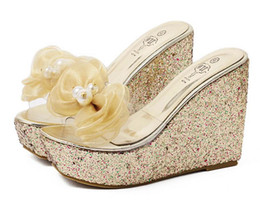 Discount Wedding Wedges Shoes Bling   2017 Wedding Wedges Shoes ...