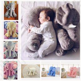6 color LJJK277 elefante almohada bebé muñeca niños sueño almohada regalo de cumpleaños INS almohada lumbar nariz larga elefante muñeca suave peluche