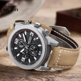 large watches for men online large dial watches for men for megir mens chronograph luminous hands waterproof wristwatches fashion large dial calendar leather band quartz watch for