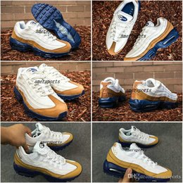 Discount shoes run air max 2016 Air New Max 95 PRM Ale Brown 538416-200 Running Shoes Air 95 Women Men Sneakers Maxes 95 Gold White Men's For Sale Sports Shoes