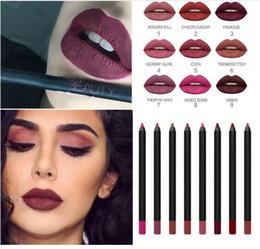 Wholesale Huda Beauty Lip Contour lips gloss lip Pencil lipgloss Liner Pencils matte liquid lipstick lipliner Cosmetics makeup colors free dhl