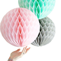50pcs Lot 8 20cm Tissue Paper Balls Honeycomb Ball Flower Lantern Hanging Decoration For Home Party Decor