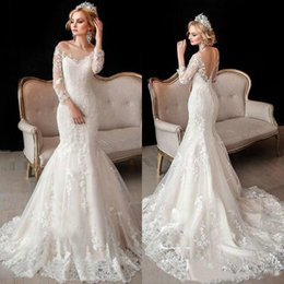 2016 new designer sexy long sleeves wedding dresses sheer off shoulders backless vestios de novia lace appliques bridal gowns arabic style