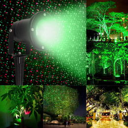 Discount landscape laser projector light Hot New R&G Waterproof Landscape Garden Projector Moving Laser Xmas Stage Light Lamp New Lawn lamp B494