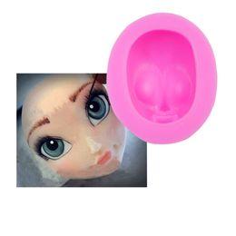 Wholesale 250pcs D Girl Princess Face Lady Head Cake Mold Silicone Cute Doll Face Fondant Mold Doll Head Cake Decorating Tools ZA0695