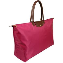 Discount deep shop Hot Sell Women Handbag long handle Folding Beach bag King size Casual waterproof nylon travel shopping Champagne bags XXL