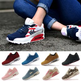 Discount Shoes Run Air Max 2015 New Top Quality Men AIR 90 VT Hyperfuse Essential Running Shoes Men Walking Shoes Black Suede Sport Sneakers Max Size 36-45