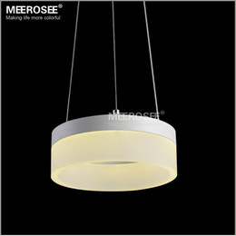 Discount small led light fixtures Modern 1 Ring LED Pendant Light Fixture  Small White Acrylic LED