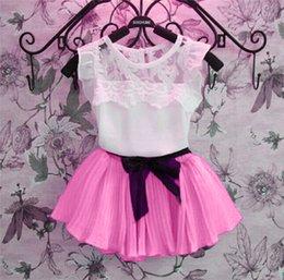 Wholesale Little Girls Skirt Sets Clothes Short T shirt Summer Kids Clothes Girls Costume Child Clothes Manga Curta Vestido