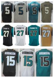 39aa9bdba Men s 27 Leonard Fournette 15 Allen Robinson 5 Blake Bortles Elite Jerseys  Top Quality Stitching Jersey Size M L XL XXL XXXL ...