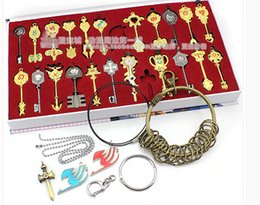 2017 fairy tails Wholesale-Hot Sale 2015 Freeshipping 8-11 Years Grownups No Model Deluxe New Cosplay Fairy Tail Lcuy Celestial Spirit Gate Keys Set 22 Pcs cheap fairy tails