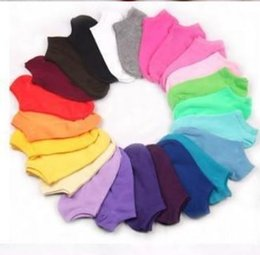 Wholesale 2pc pair high quality color at random Women boy girl Cotton Sweet Ship Short Invisible Thin Ankle Socks Y191