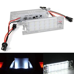 Discount fg cars 2x Error Free 18 3528 SMD LED License Number Plate Lamps Car Light Auto Accessories fit for Ford Falcon FG BABF XR 6 8 White
