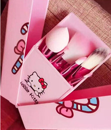 Wholesale Hello Kitty Jian Makeup Brush set professional Makeup tools portable storage box full set of factory outlet DHL