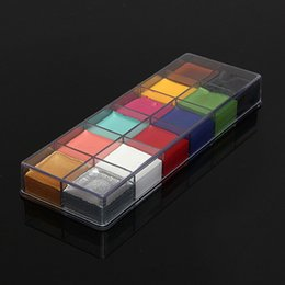 Wholesale 12 Flash Tattoo Color Face Body Paint Oil Painting Art Make Up Halloween Party Fancy Dress Makeup Tools