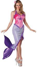 Wholesale Venta al por mayor de la nueva llegada de la sirena princesa traje libera el envío F1548 cuentos de hadas trajes atractivos