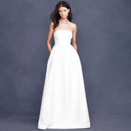 Simple Strapless Wedding Dresses Pockets Online | Simple Strapless ...