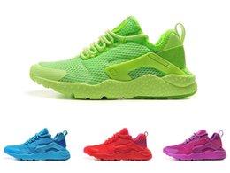 Discount Shoes Run Air Max Huarache Ultra Run women shoes Outdoor footwear mesh huaraches running sneakers purple green red