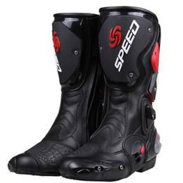 PRO-велосипедиста SPEED BIKERS Мотоцикл сапоги Мото гонки Мотокросс Off-Road мотоцикл обувь черный / белый / красный размер 40/41/42/43/44/45