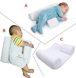 New Baby Infant Recém-nascido Sleep posicionador Anti Roll Pillow Com Folha CoverNew Baby Infantil Recém-nascido Sleep posicionador Anti Roll Pillow Com Ela