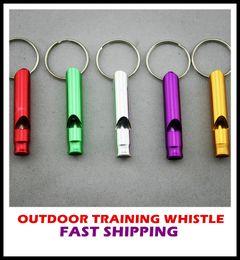 El silbido al aire libre del entrenamiento de la supervivencia de la aleación de aluminio para los perros de entrenamiento / la campaña / alpinismo / explorando los colores al azar, 6.2x11cm libera el envío