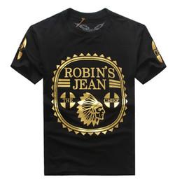 Wholesale 2016 New Robin s Jean Shirts Mens Robin Jeans Shirts Cotton robins t shirt Hip Hop Men Short Sleeve T Shirt