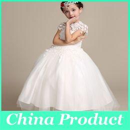 Vestidos de princesa para niños Vestido de baile de fiesta de cumpleaños de niñas Backless TuTu Dress 2016