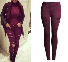 Burgundy Stretch Pants Online | Burgundy Stretch Pants for Sale