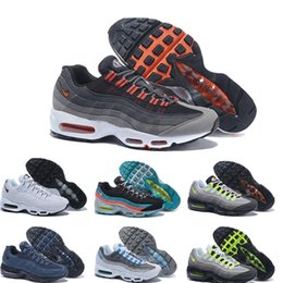 Discount Shoes Run Air Max 2016 high quality Air 95 OG Greedy retro Running Shoes Men Max Original max 95 OG Neon Green Black Men Sneakers Wholesale