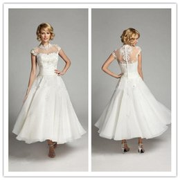Discount White Tea Length Dress Buttoned Collar - 2017 White Tea ...