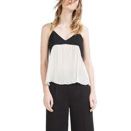 Wholesale atractivo del tanque del cuello al por mayor a las mujeres del chaleco de la liga v encabeza la manera del verano Camis cabestrillo camisas de mujer de diseño streetwear Europea Casual Tops WT265