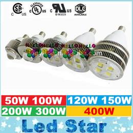 UL DLC E27 E40 gancho LED de alta luz de la bahía del CREE 50W 100W 120W 150W 200W 300W 400W gasolinera dosel Luces de CA 110-277V