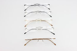 Wholesale Brand Silhouette rimless optical glasses frames titanium rimless eyeglasses frame myopia frame hinge memory titanium optical frames eyeglass